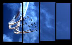 """Модульная картина """"Самолеты в небе"""""""