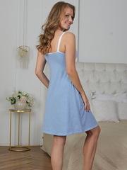 Vivamama. Сорочка для кормящих Olivia, голубой меланж вид 4