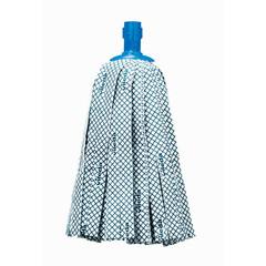 Насадка моп веревочная Vileda Professional Супермоп Антибак хлопок/микроволокно/резина 33 см белая/синяя (арт. производителя 137908)
