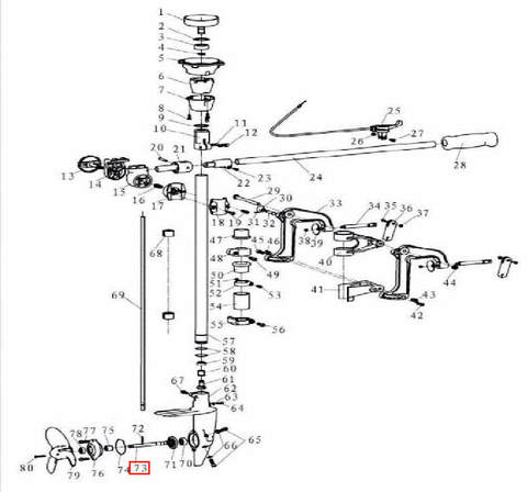 Вал винта для лодочного мотора T3,5 Sea-PRO