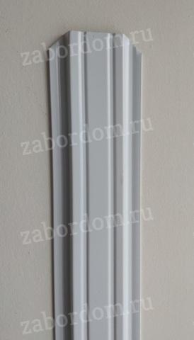 Евроштакетник металлический 85 мм RAL 9003 П - образный 0.5 мм