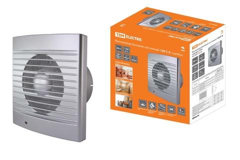 Вентилятор бытовой настенный 120 С-5, серебро TDM