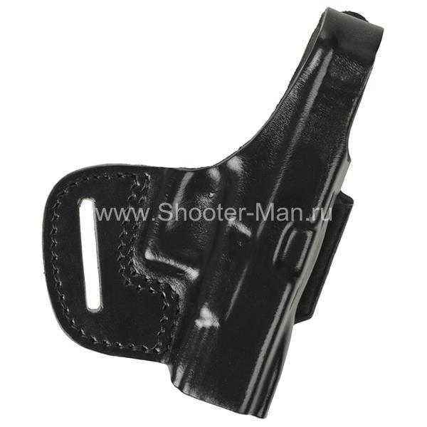 Кобура кожаная поясная для пистолета Глок 21 ( модель № 6 )