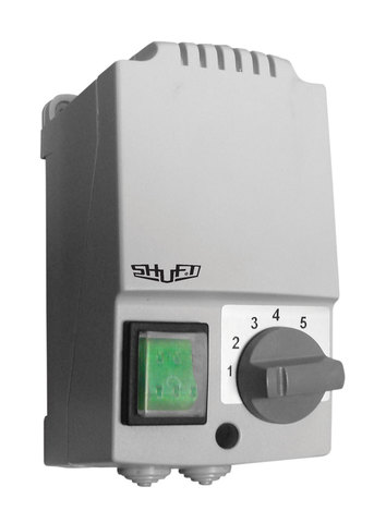 Регулятор скорости Shuft SRE-E-5,0-T однофазный пятиступенчатый с термозащитой (в корпусе)