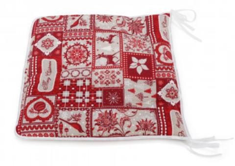 Сидушка на стул Рождество красный