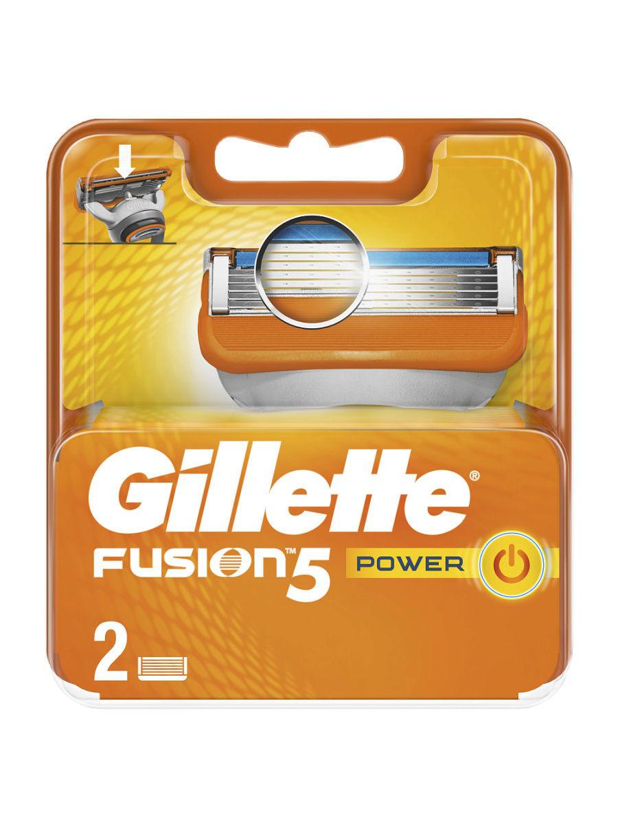 Сменные кассеты для бритья Gillette Fusion Power  2 шт