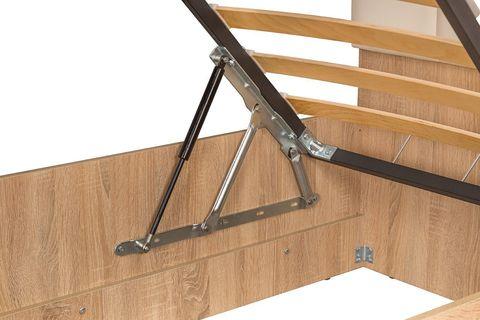 Кровать двойная Линда 303 Моби 140х200 дуб сонома/белый