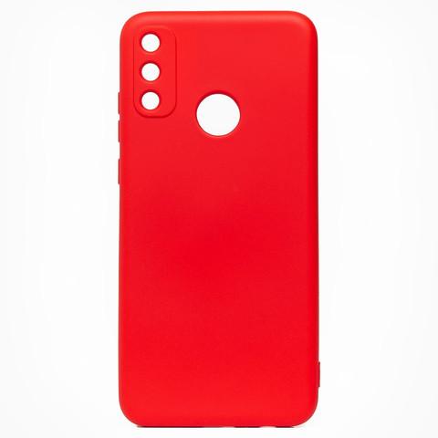 Чехол для Huawei Honor 9A Софт тач мягкий эффект   микрофибра красный