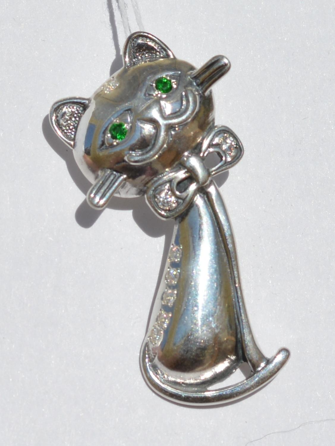 Котенок (серебряная подвеска)