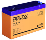 Аккумулятор Delta HR 6-15 ( 6V 15Ah / 6В 15Ач ) - фотография