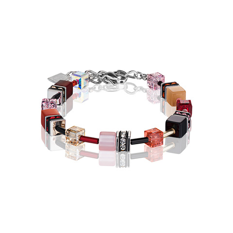 Браслет Coeur de Lion 2838/30-0326 цвет розовый, оранжевый, чёрный