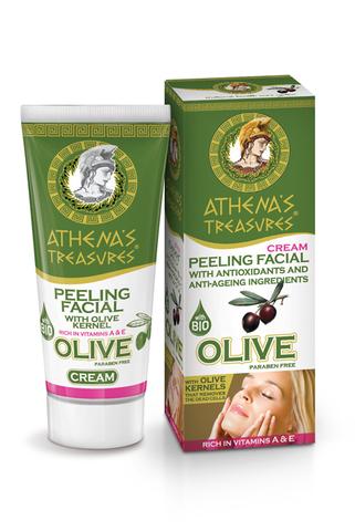 Скраб для лица с оливковым маслом и косточкой оливы ATHENA'S TREASURES 50 мл