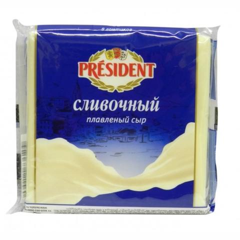Сыр плавл PRESIDENT Сливочный 300 гр в/у РОССИЯ