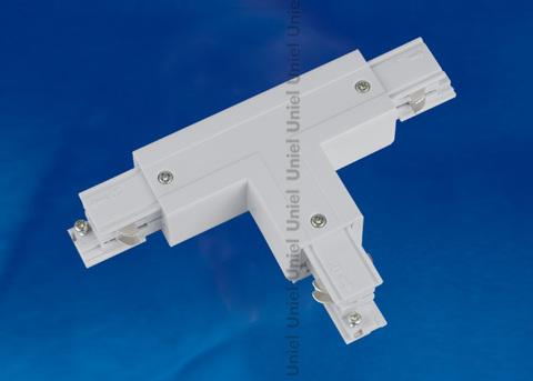 UBX-A32 SILVER 1 POLYBAG Соединитель для шинопроводов Т-образный. Левый. Внешний. Трехфазный. Цвет — серебряный. Упаковка — полиэтиленовый пакет.