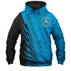 Толстовка утепленная 3D принт, Mercedes-Benz (3Д Теплые Худи Мерседес-Бенц) 03