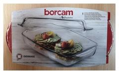 Кастрюля прямоугольная с крышкой 2,2 литра (1,3 и 0,9 л) Borcam 59019 жаропрочная стеклянная форма для запекания 28х16х5 см рубашка