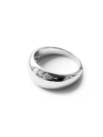 Серебряное дутое узкое кольцо