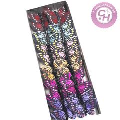 Бабочки декоративные на проволоке разноцветные, 5 см, 1 шт.
