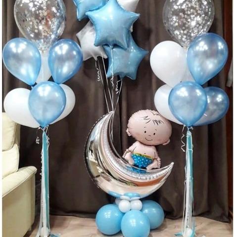 Набор из воздушных шаров на выписку для мальчика №2