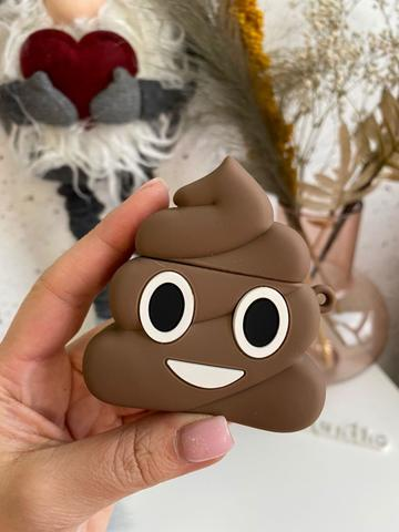 Чехол для AirPods toys /emoji brown/