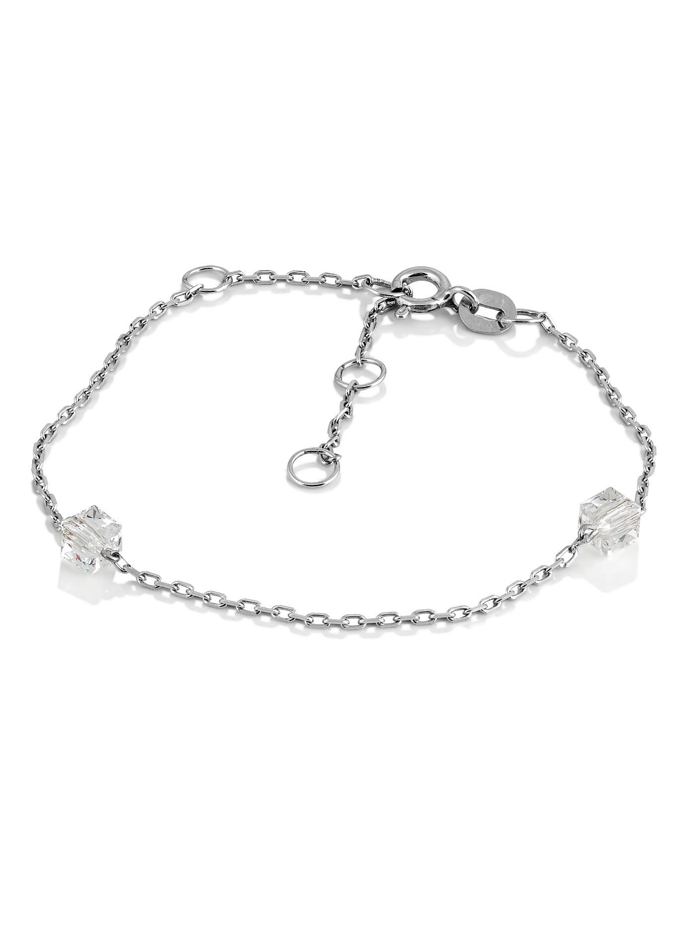 Серебряный браслет к сотуару с премиум-кристаллами