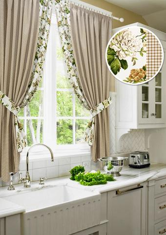 Комплект штор для кухни Кимберли с подхватами