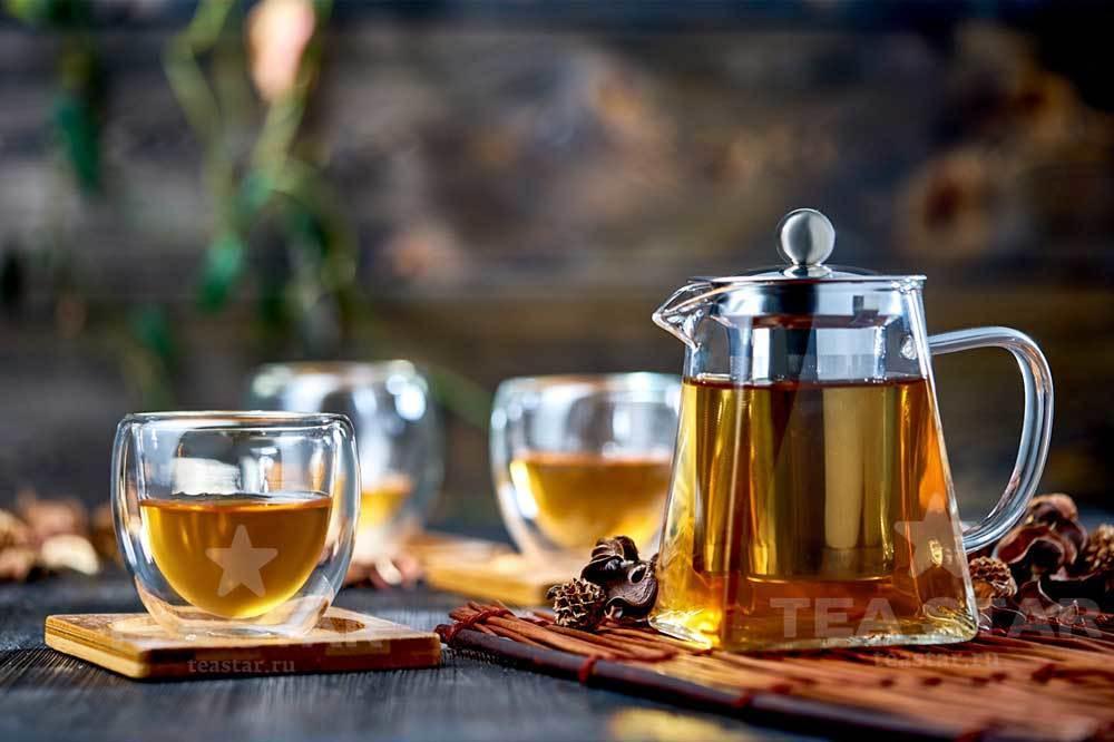 Наборы-Акции Заварочный чайник с колбой 750 мл, 4 пиалы Ландыш 100 мл, 4 бамбуковые подставки под пиалы Zavarochniy_chainik_Kvadrat_750_TeaStar.jpg