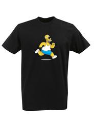 Футболка с принтом мультфильма Симпсоны (The Simpsons) черная 007