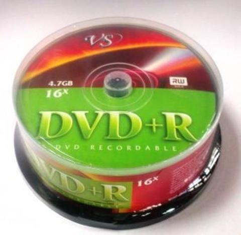 Диск VS DVD+R 4,7 GB 16x CB/25