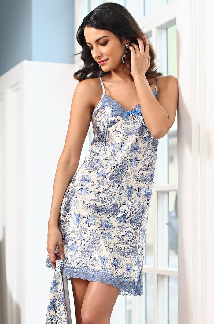 MIA-MIA (Италия) Сорочка женская ночная шелковая MIA-Amore  Дольче Вита  5910 5910.1.jpg