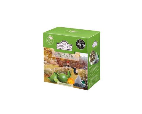 Чай зеленый в пирамидках Ahmad Tea Лаймовый пирог, 20 пак/уп
