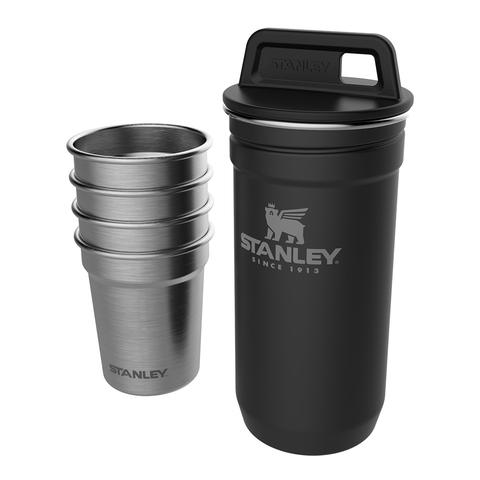 Набор стопок Stanley Adventure (4 шт по 59 мл. + футляр), черный