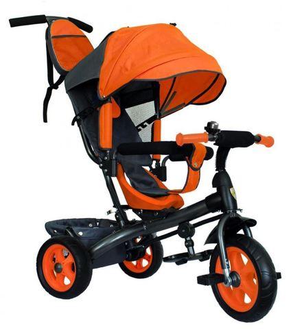 Велосипед детский с литыми колёсами (оранжевый-серый)