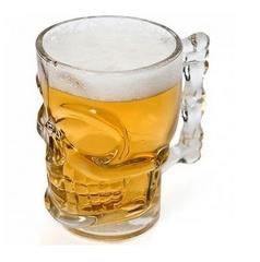 Пивная кружка Череп, 300 мл, стекло, фото 1
