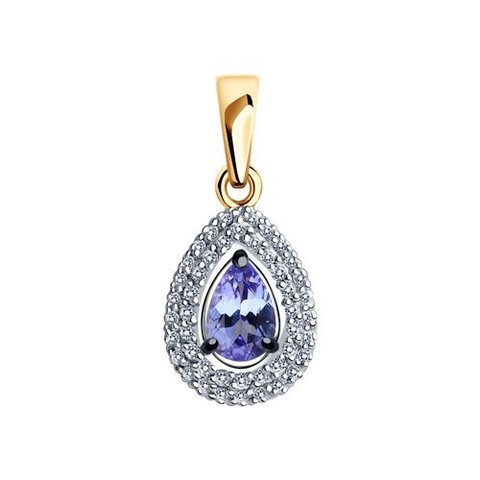 6034056 - Подвеска из золота с бриллиантами и танзанитом