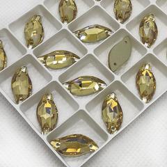 Купить оптом стразы пришивные Golden Shadow, Leaf золотистые