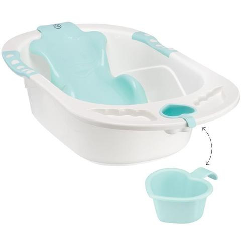 Ванна Happy baby с анатомической горкой Bath comfort Yellow – купить в Казахстане
