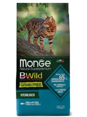 Monge Cat BWild Grain Free Сухой корм для стерилизованных кошек из тунца, беззерновой