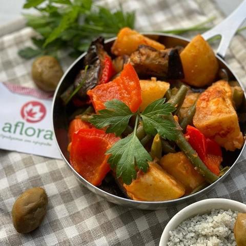 Фотография Овощное рагу с индейкой / 350 мл купить в магазине Афлора