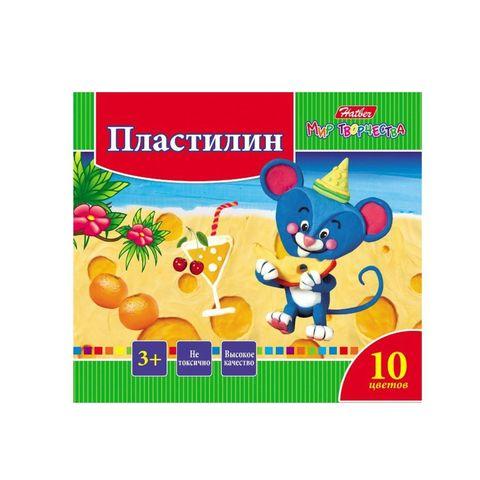 Пластилин HATBER Ушастики 10 цв РОССИЯ