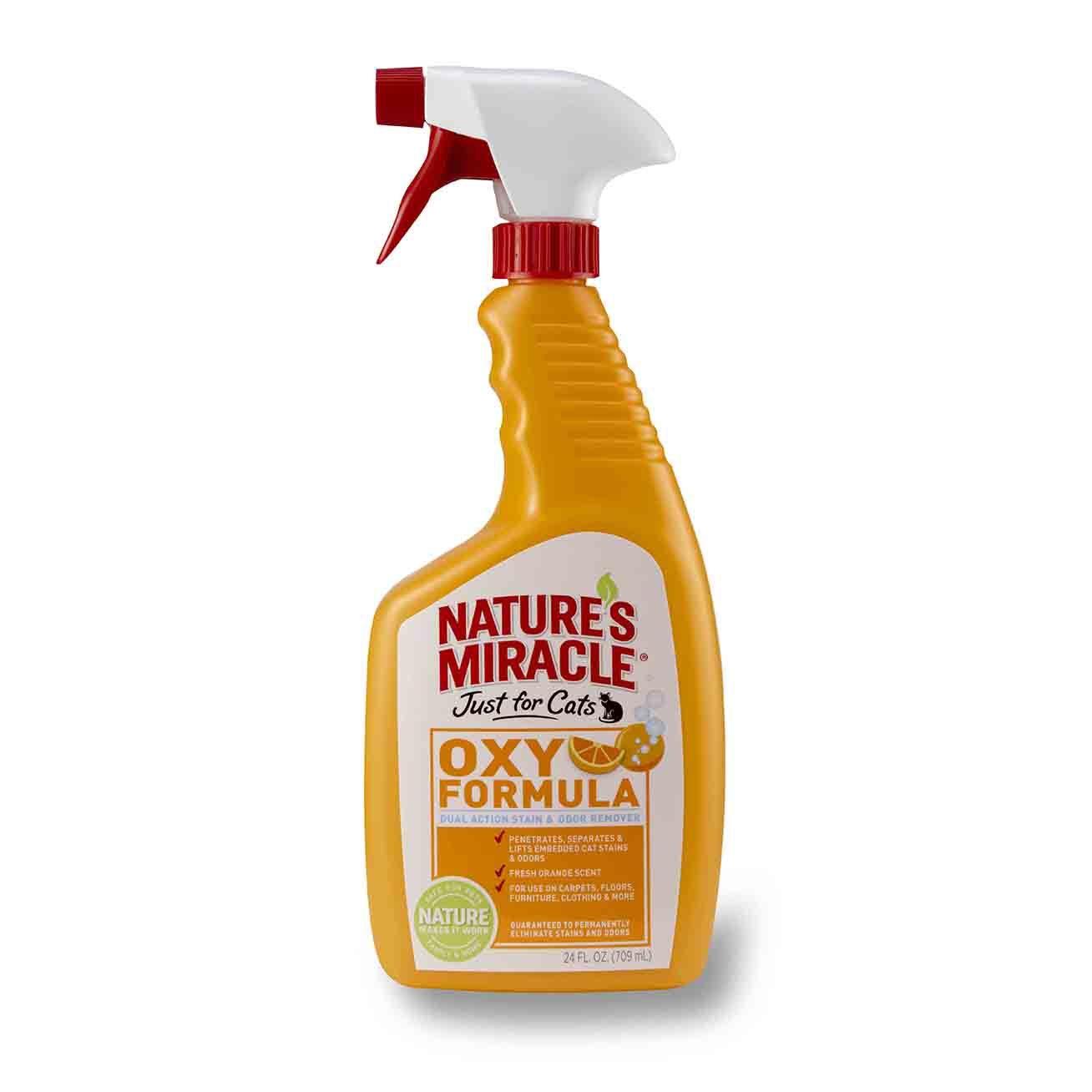 От пятен и запахов 8in1 уничтожитель пятен и запахов от кошек NM Orange-Oxy с активным кислородом, спрей 018065051615.jpg