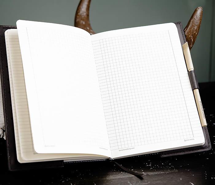 BC135-1 Кожаный блокнот ручной работы черного цвета (А5) фото 09