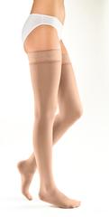 Компрессионные чулки с кружевной резинкой на широкое бедро Mediven Elegance (I класс, 18-21 мм рт. ст.)
