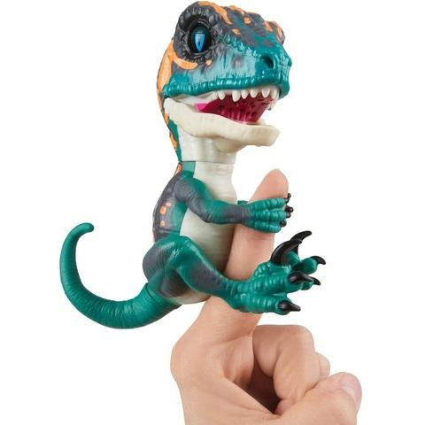 Неукротимый Раптор от Фингерлингс Фари Синий Интерактивный Динозавр