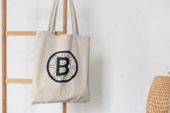 Сумка-шоппер с принтом Бостон Брюинз (NXL Boston Bruins) бежевая 004