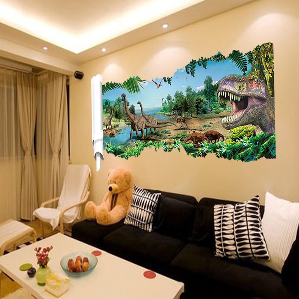 Парк юрского периода 3D наклейка Остров динозавров