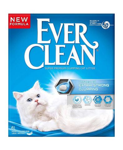 Ever Clean Extra Strong Clumping Unscented комкующийся наполнитель без запаха д/кошек (6 л)