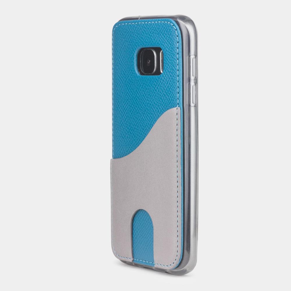 Чехол-накладка Andre для Samsung S7 из натуральной кожи теленка, морского цвета