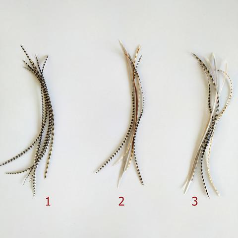 Перья петуха в волосы 17-20 см. 6 шт. (натуральный)