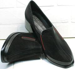 Красивые туфли женские закрытые осень весна высота каблука 6 см H&G BEM 167 10B-Black.
